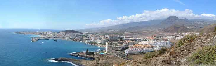 Panoramic view of Los Cristianos, Tenerife